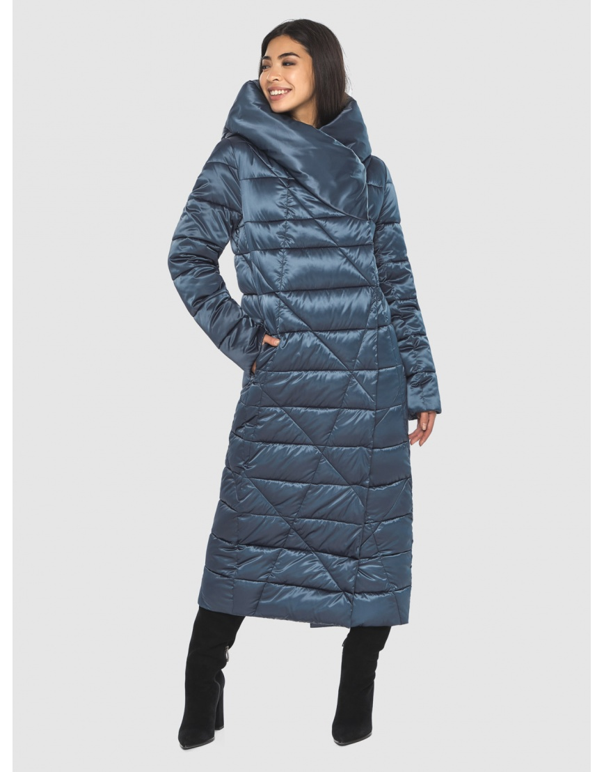 Зимняя модная куртка Moc на подростков синяя M6715 фото 1