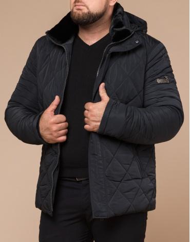 Современная зимняя куртка цвет графит модель 19121 фото 1