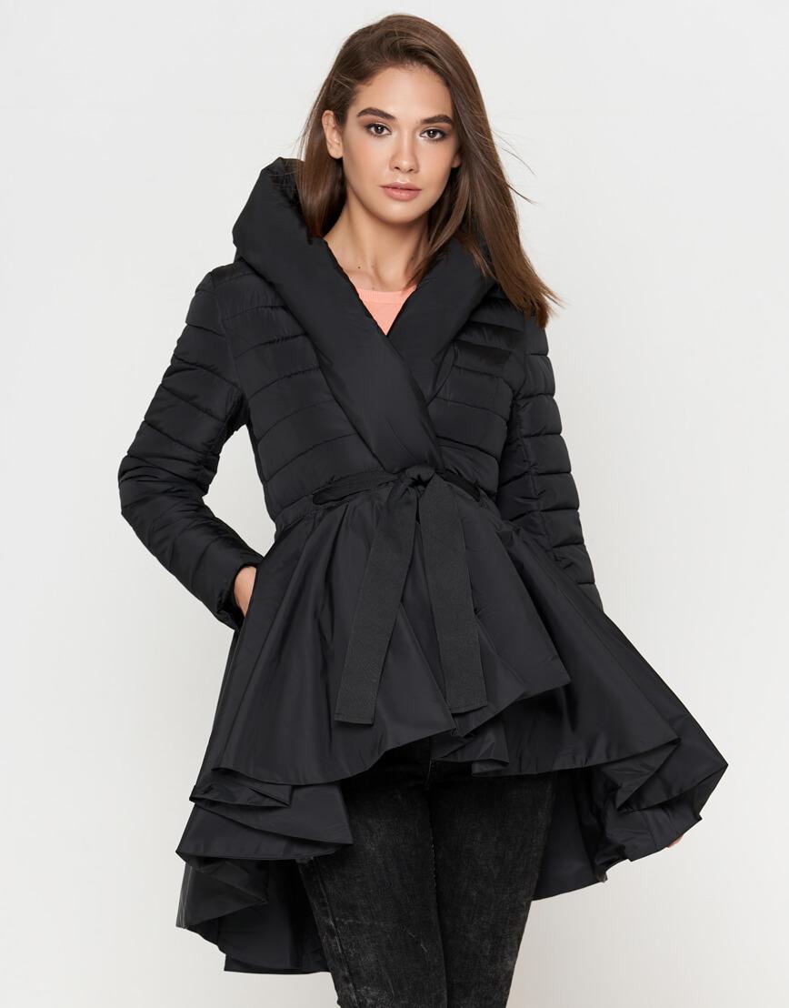 Куртка современная черная женская модель 25755 фото 2