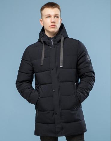 Черная куртка зимняя стильная модель 6005