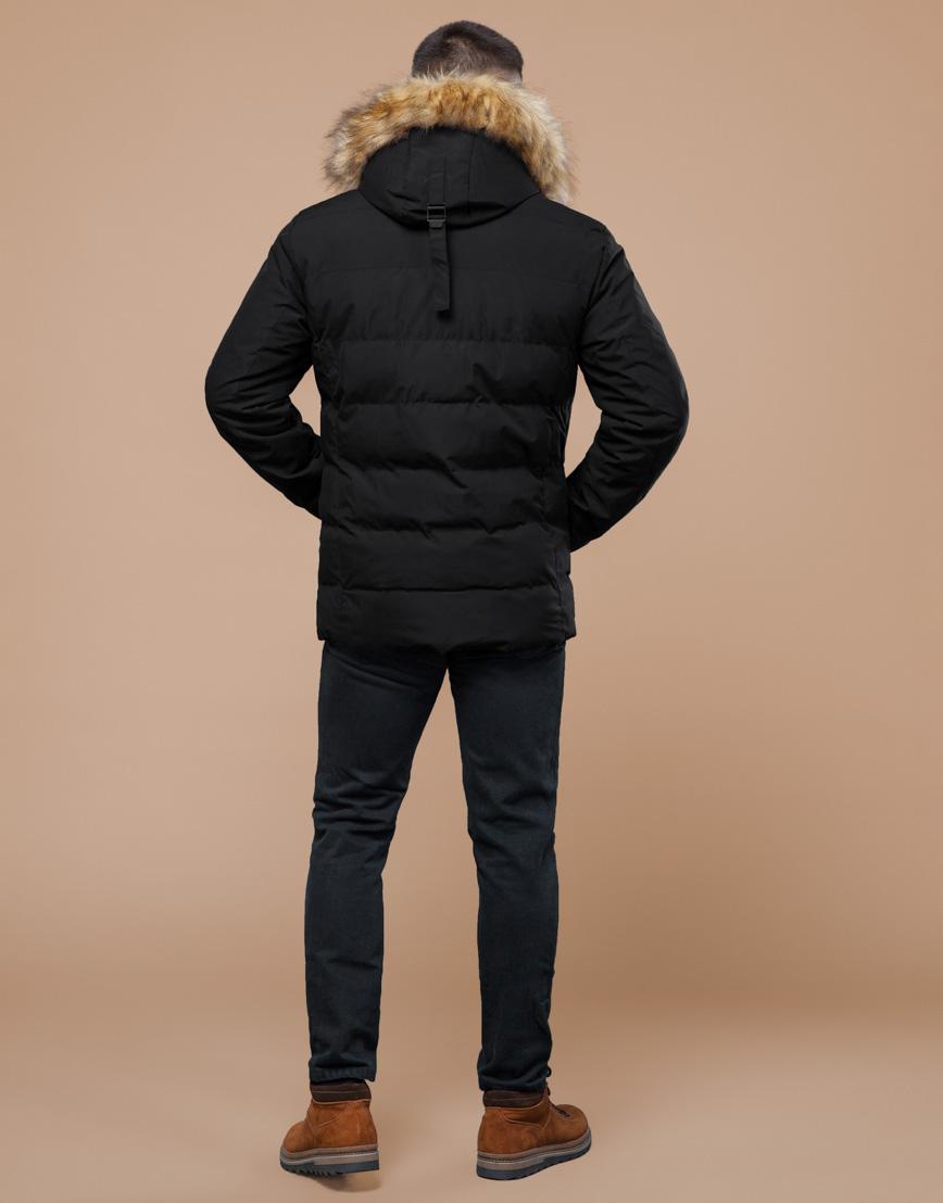 Черная зимняя куртка мужская качественного пошива модель 25780 фото 4