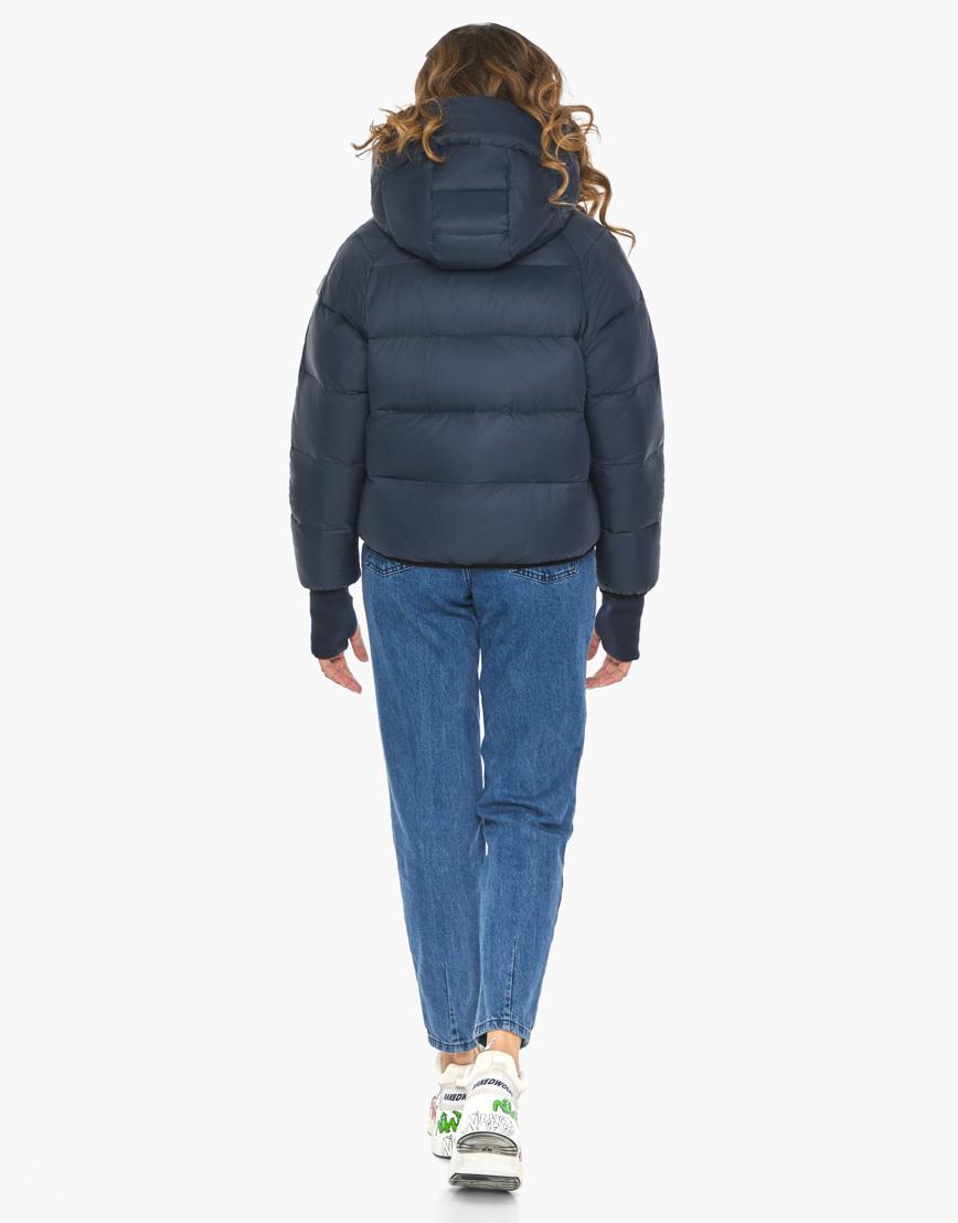 Пуховик куртка Youth женская темно-синяя модель 26420 фото 7