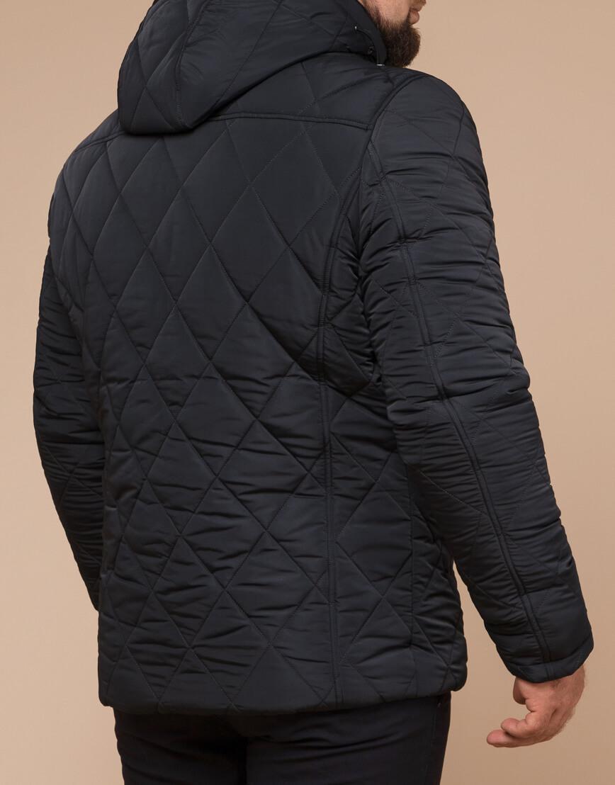 Современная зимняя куртка цвет графит модель 19121 фото 3