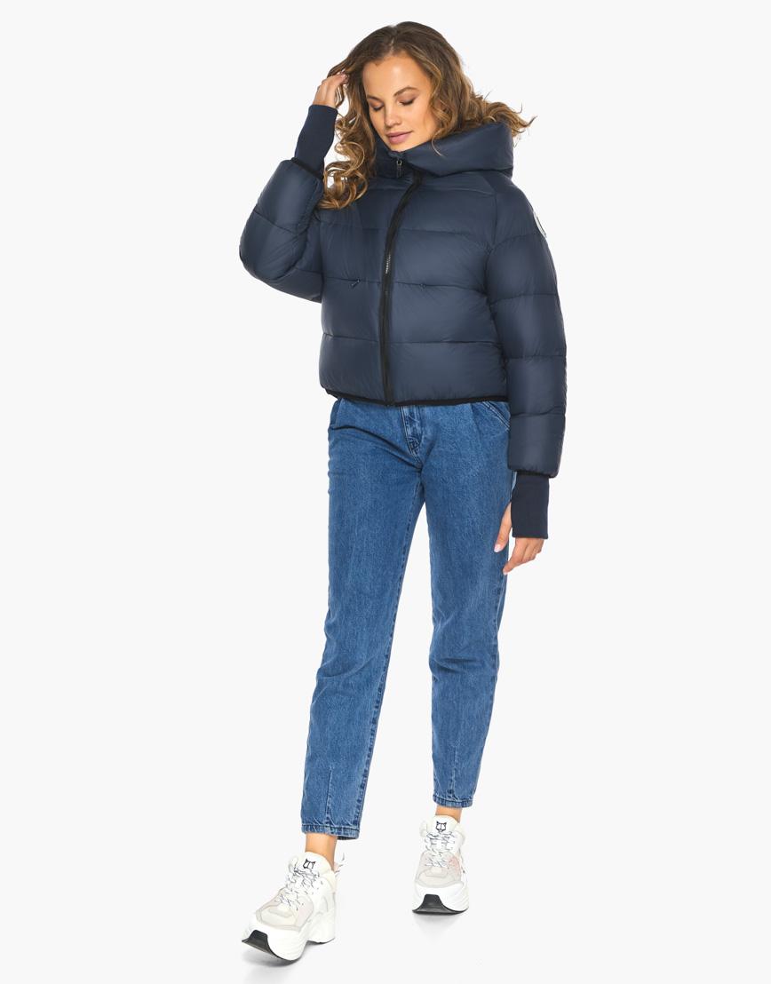 Пуховик куртка Youth женская темно-синяя модель 26420 фото 1