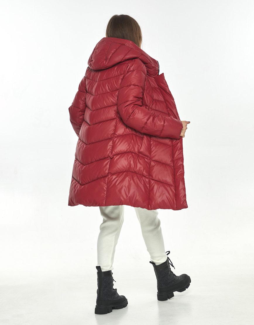 Комфортная куртка красная женская Ajento зимняя 22857 фото 3
