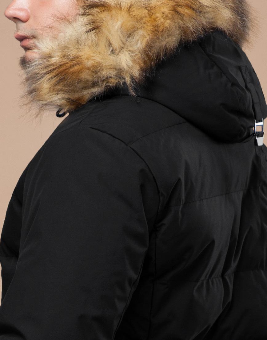 Черная зимняя куртка мужская качественного пошива модель 25780 фото 7