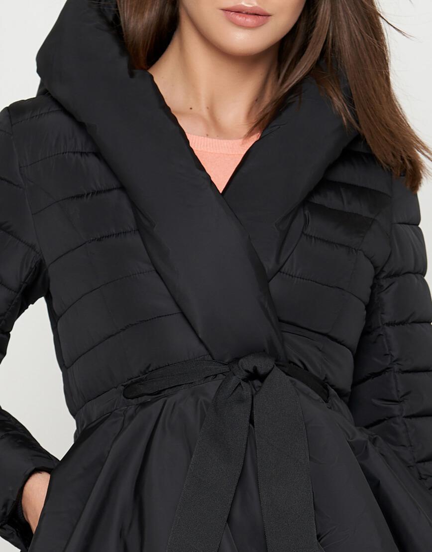 Куртка современная черная женская модель 25755 фото 4