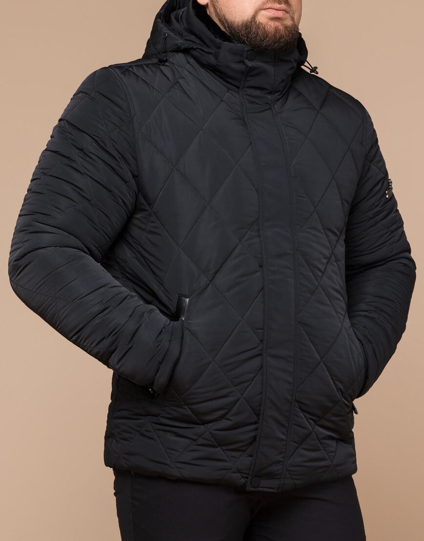 Современная зимняя куртка цвет графит модель 19121 фото 2