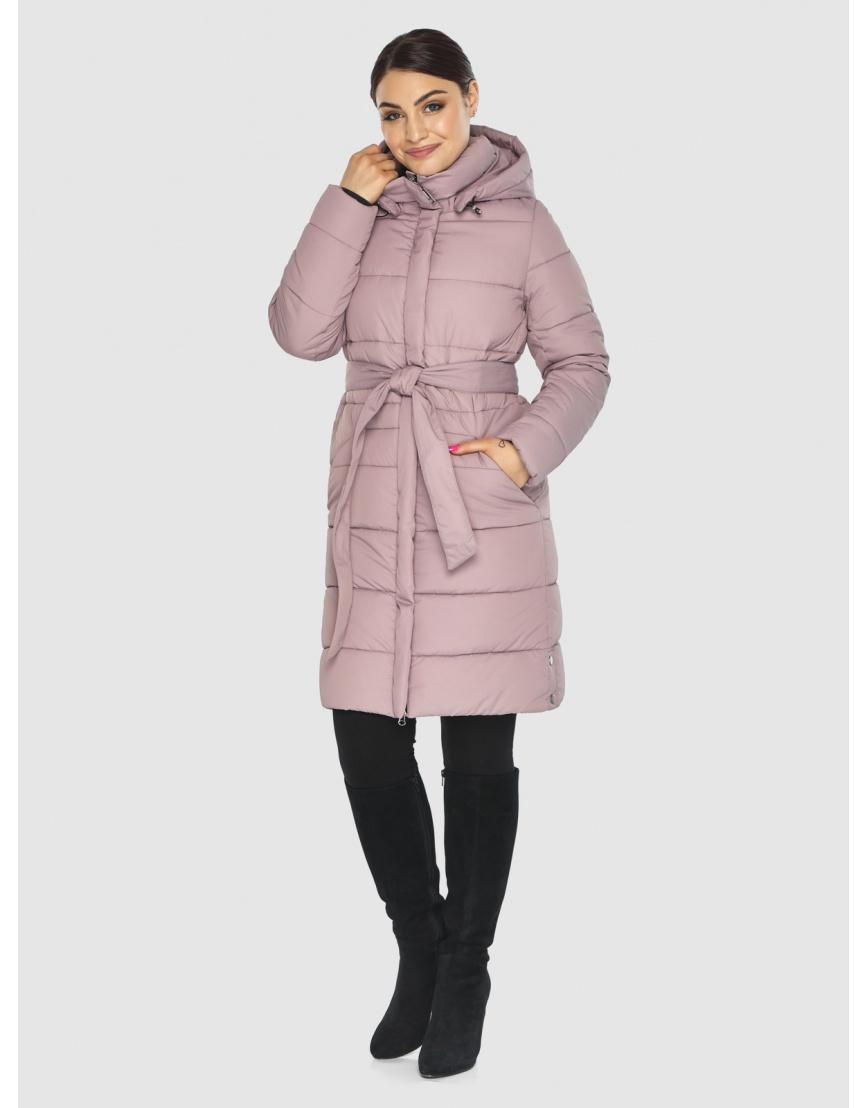 Куртка с воротником пудровая женская Wild Club 584-52 фото 3