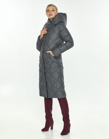Длинная серая куртка Kiro Tokao женская 60074 фото 1