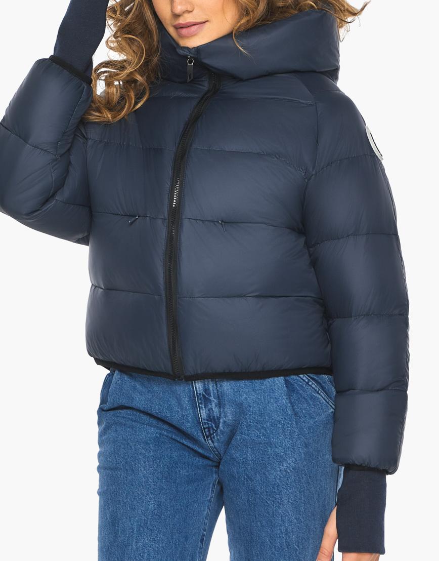 Пуховик куртка Youth женская темно-синяя модель 26420 фото 8