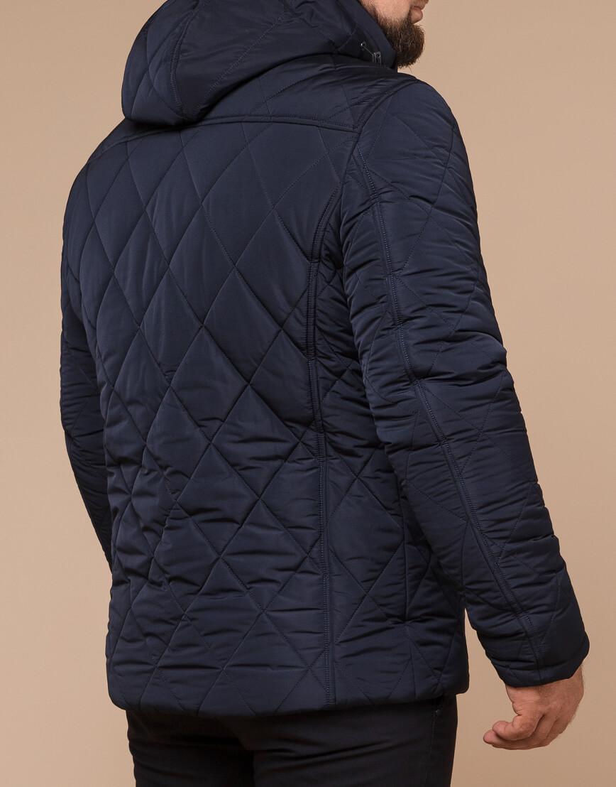 Синяя куртка качественного пошива модель 19121 фото 3