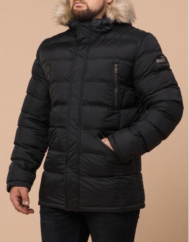 Качественная черная куртка большого размера модель 23752 фото 1