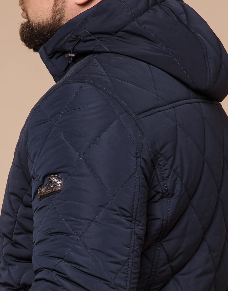 Синяя куртка качественного пошива модель 19121 фото 6