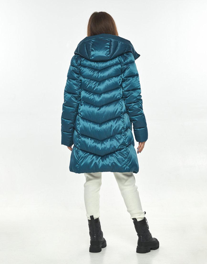 Стильная куртка женская Ajento аквамариновая зимняя 22857 фото 3