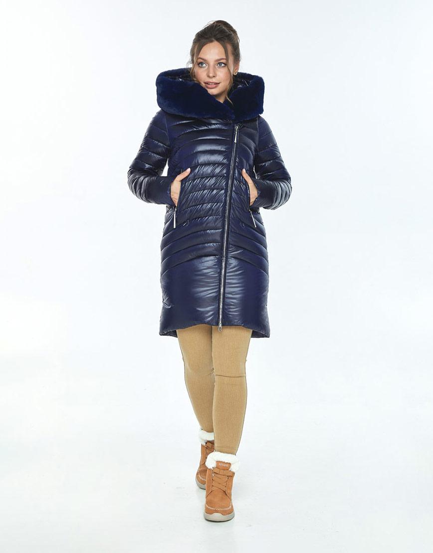 Куртка Ajento удобная женская синяя на зиму 24138 фото 2
