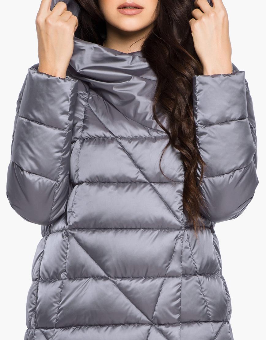 Зимний жемчужно-серый воздуховик женский Braggart модель 31058 оптом фото 6