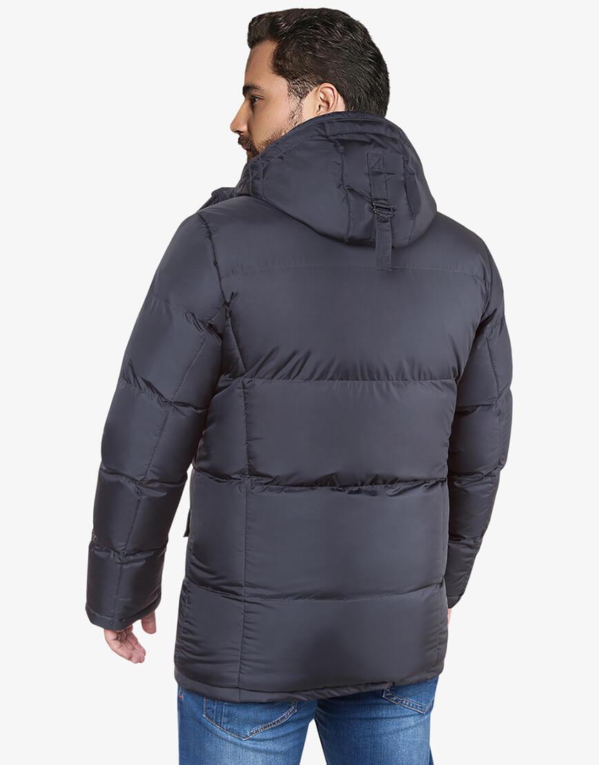 Графитовая куртка мужская большого размера на зиму модель 3284 оптом фото 3