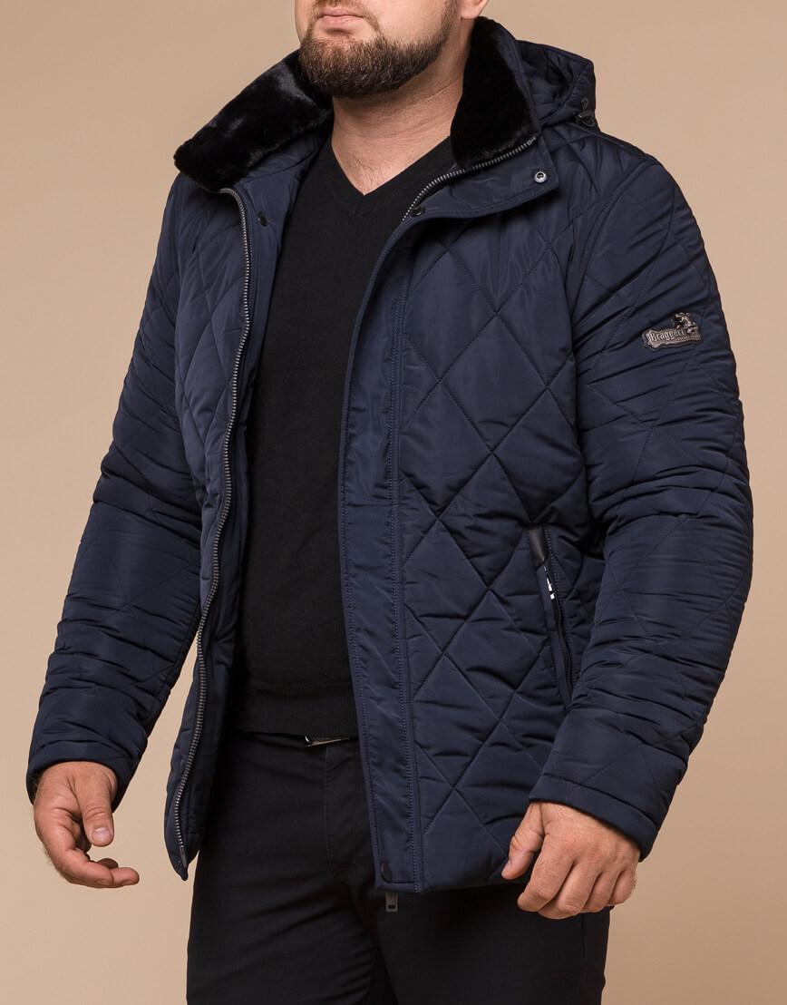 Синяя куртка качественного пошива модель 19121 фото 2