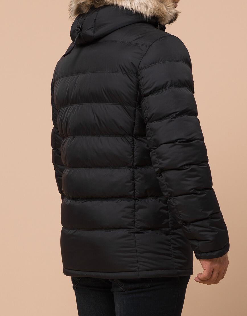 Качественная черная куртка большого размера модель 23752 фото 3