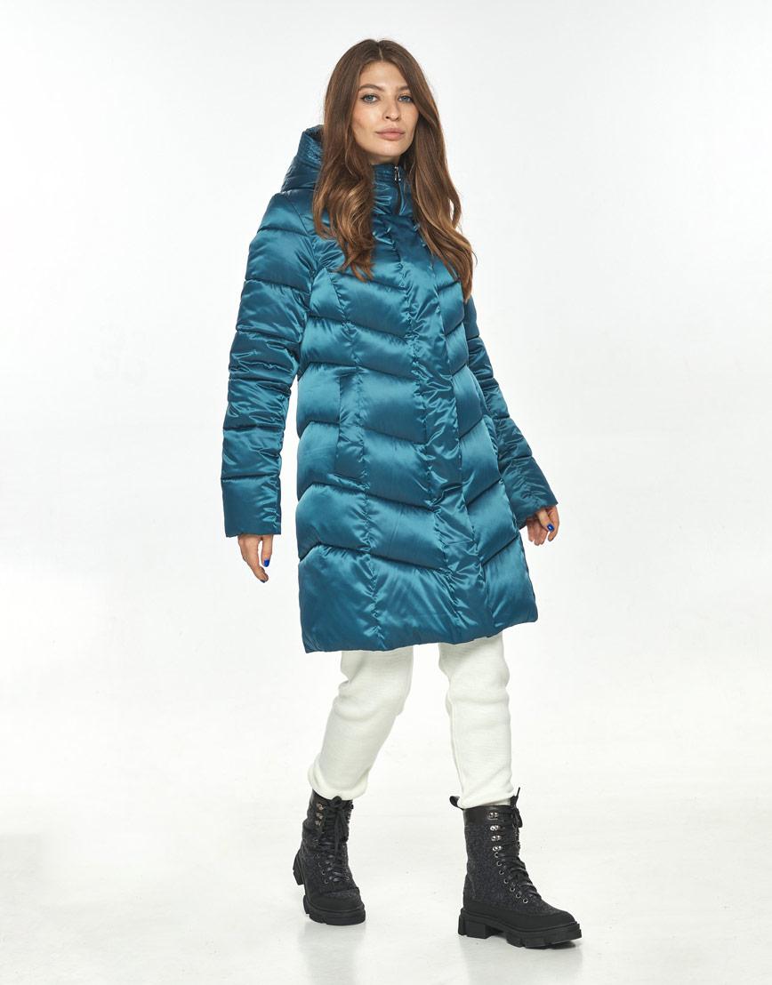 Стильная куртка женская Ajento аквамариновая зимняя 22857 фото 1