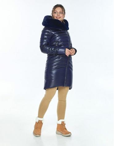 Куртка Ajento удобная женская синяя на зиму 24138 фото 1