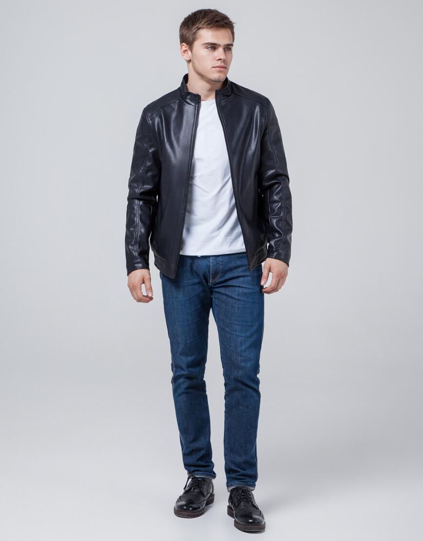 Куртка темно-синяя мужская легкая осенне-весенняя модель 1588