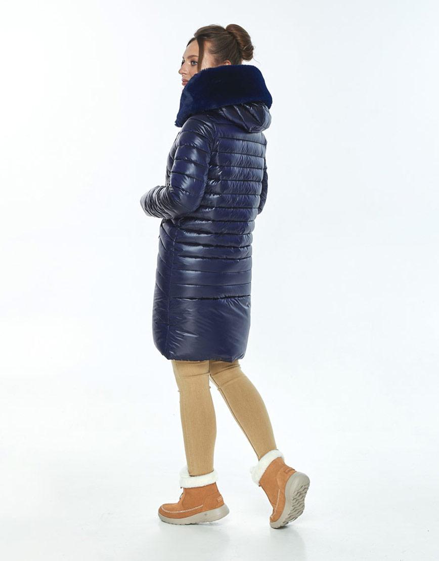 Куртка Ajento удобная женская синяя на зиму 24138 фото 3