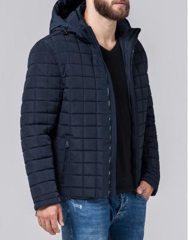 Куртка стильного фасона мужская синяя модель 2475