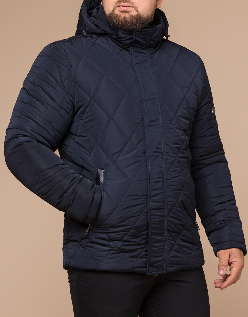 Синяя куртка качественного пошива модель 19121 фото 1