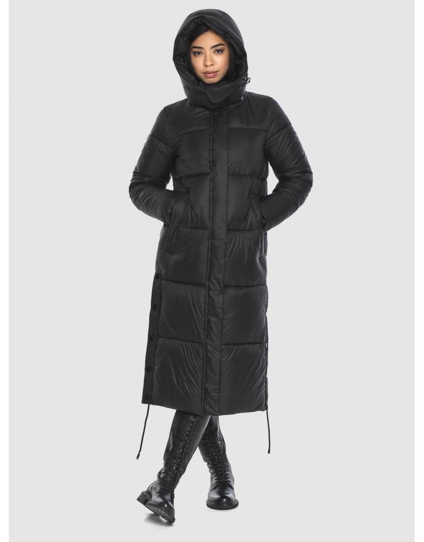 Модная куртка чёрная подростковая Moc на зиму M6874 фото 5
