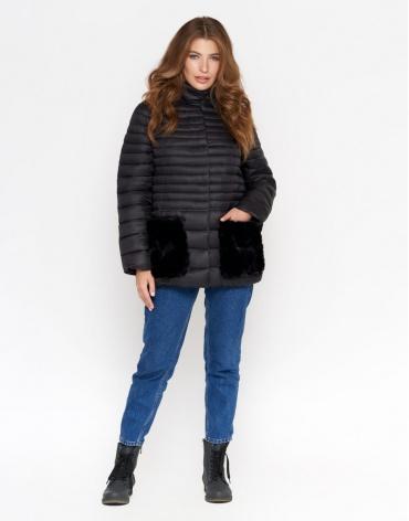 Куртка черная женская брендовая модель 842 фото 1