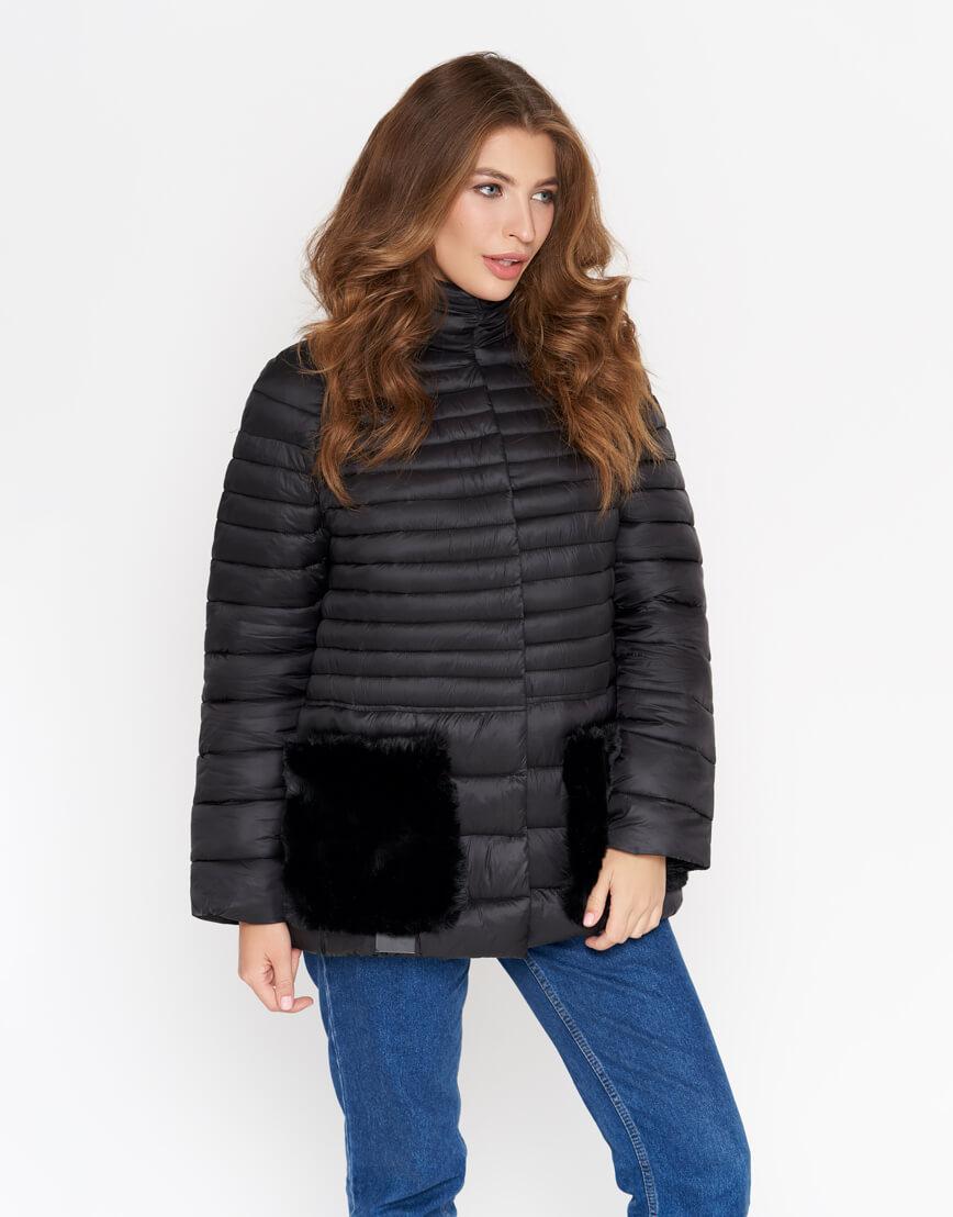 Куртка черная женская брендовая модель 842 фото 2