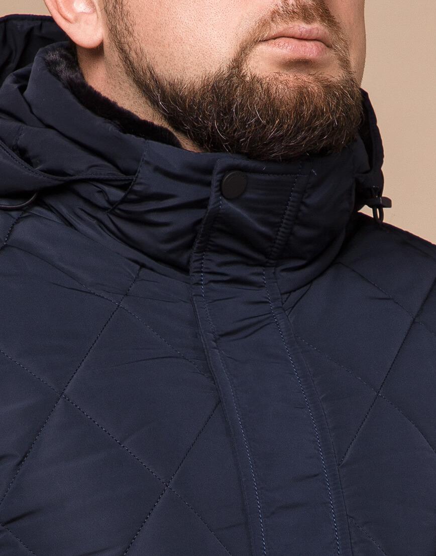 Синяя куртка качественного пошива модель 19121 фото 4