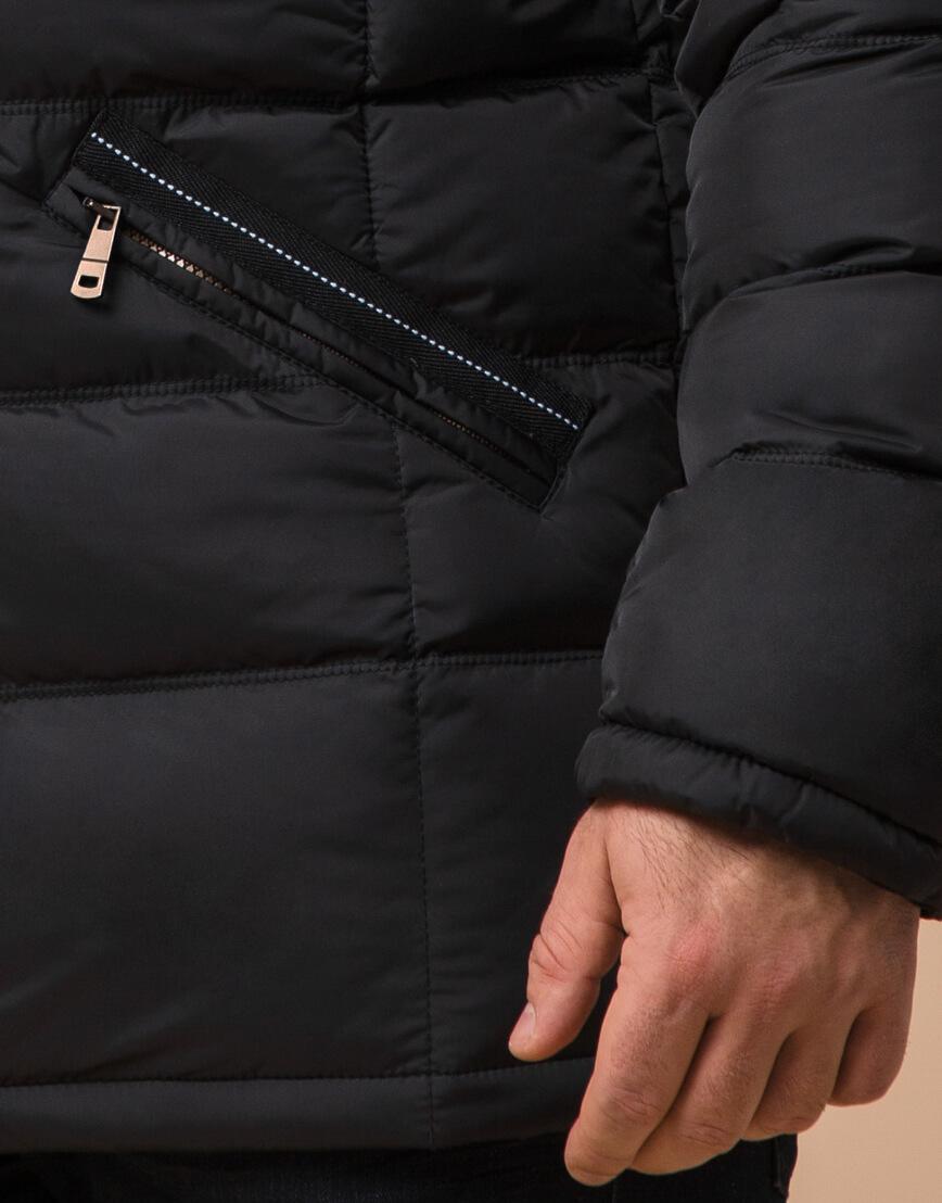 Качественная черная куртка большого размера модель 23752 фото 5