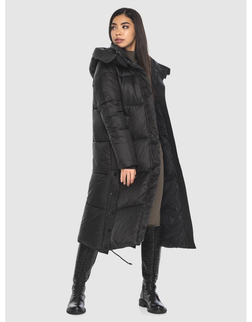 Модная куртка чёрная подростковая Moc на зиму M6874 фото 6
