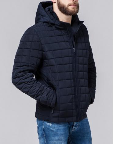 Высококачественная куртка мужская темно-синяя модель 2475 фото 1