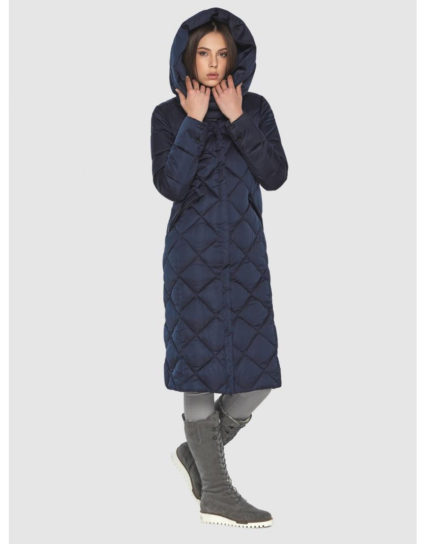 Синяя куртка женская модная Wild Club 594-37 фото 4