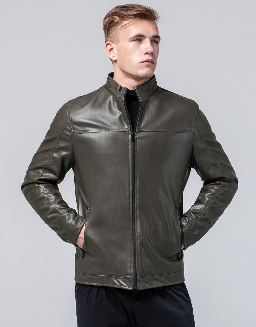 Куртка стильного дизайна молодежная цвет хаки модель 2825 фото 3