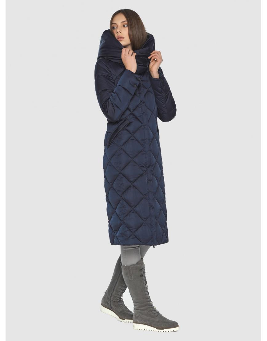 Синяя куртка женская модная Wild Club 594-37 фото 3