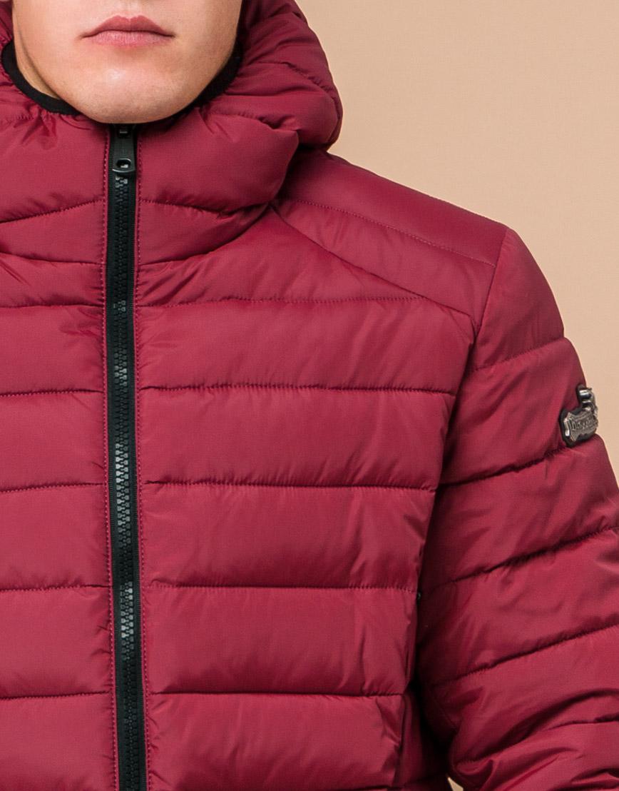 Стильная мужская куртка бордовая модель 40962 фото 4