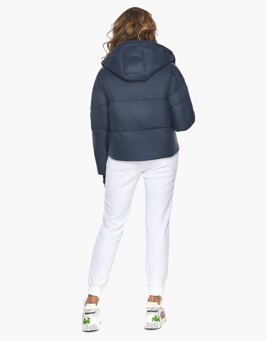 Пуховик куртка Youth темно-синяя женская качественного пошива модель 27450 фото 6