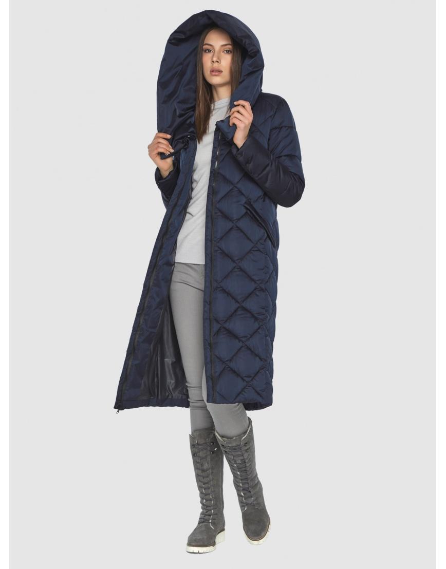 Синяя куртка женская модная Wild Club 594-37 фото 2