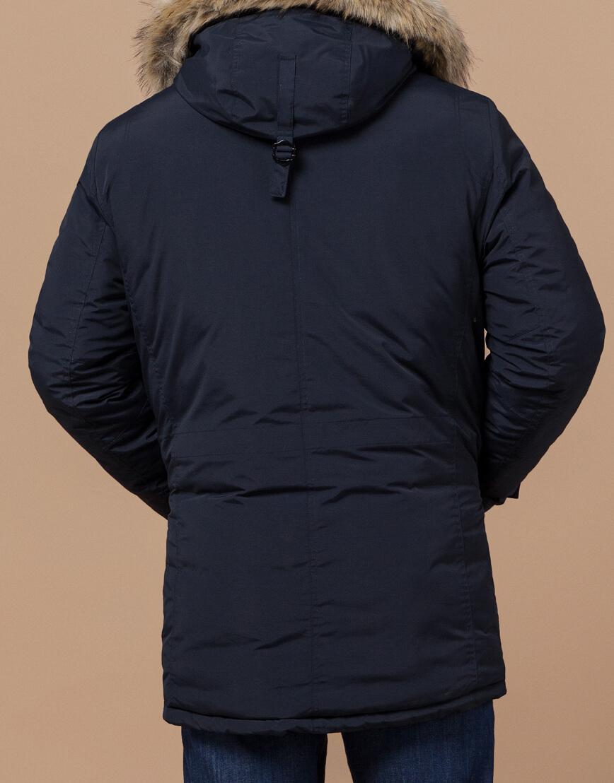Парка синяя для мужчин зимняя модель 37560 оптом