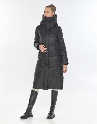 Куртка длинная женская Tiger Force комфортная чёрная TF-50291 фото 1