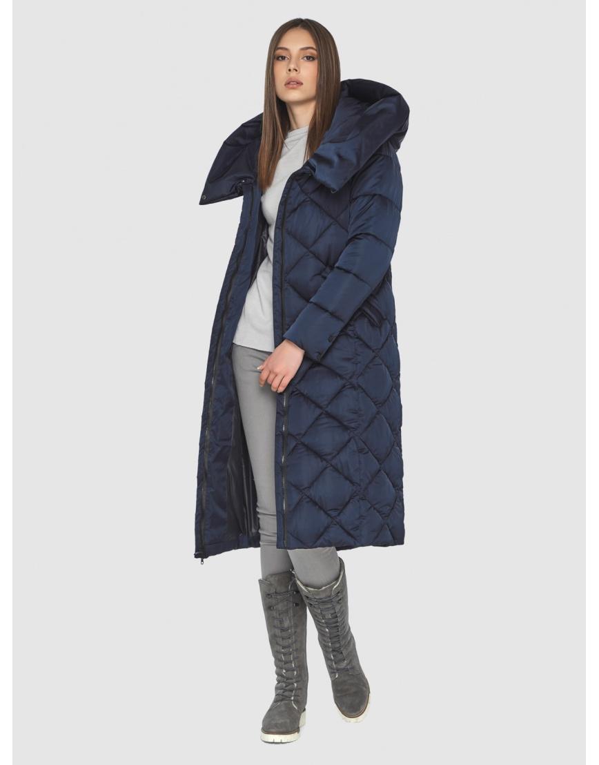 Синяя куртка женская модная Wild Club 594-37 фото 6