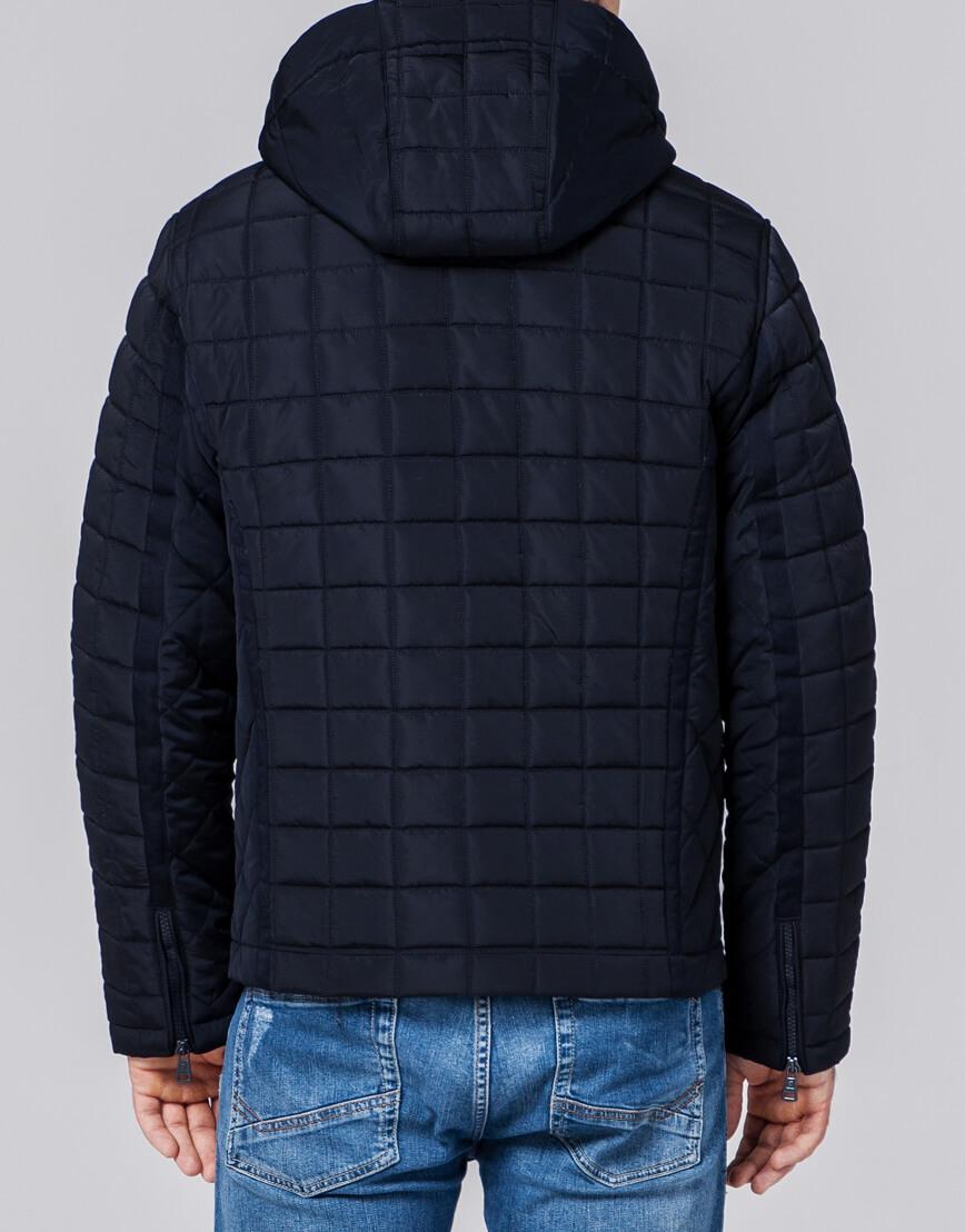 Высококачественная куртка мужская темно-синяя модель 2475