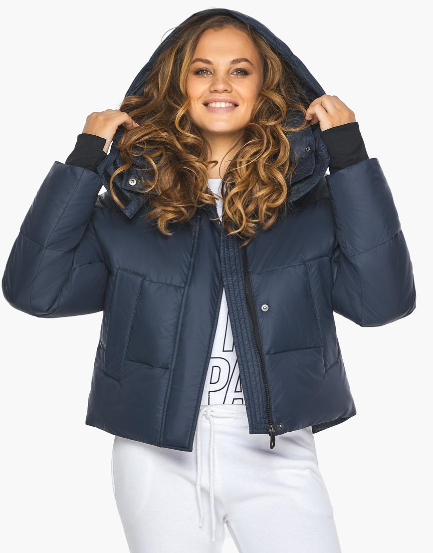 Пуховик куртка Youth темно-синяя женская качественного пошива модель 27450 фото 1