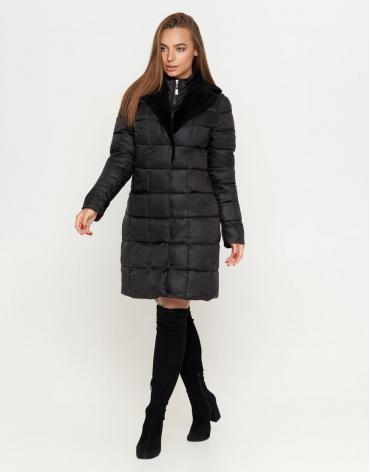Модная черная куртка женская модель 7311 фото 1