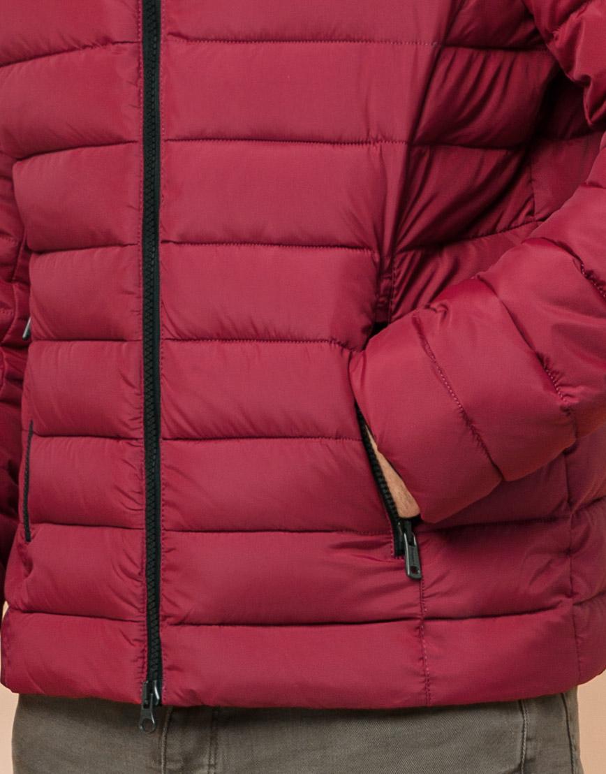 Стильная мужская куртка бордовая модель 40962 фото 5